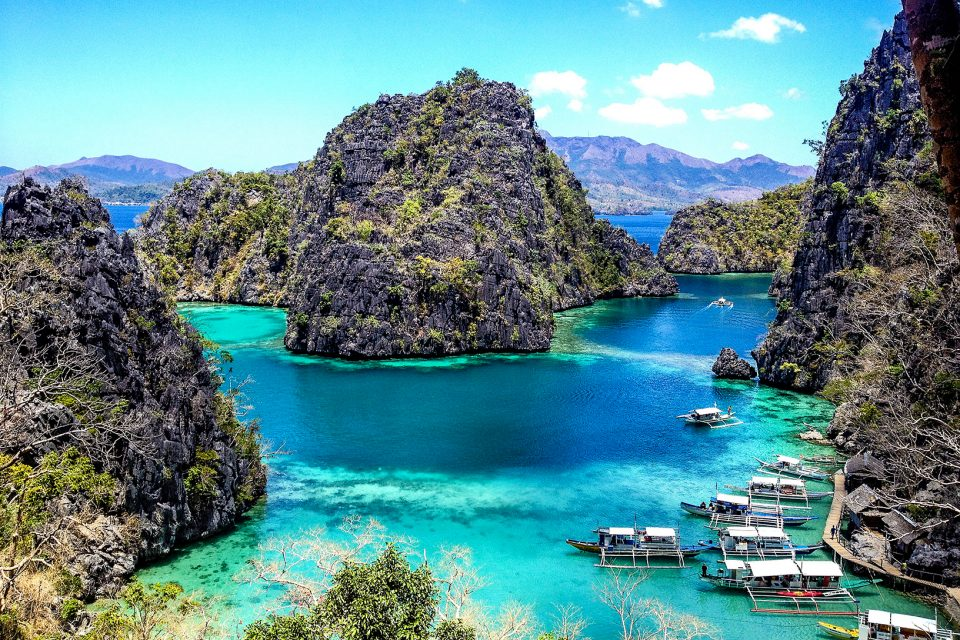 Rugged islands in turquoise water