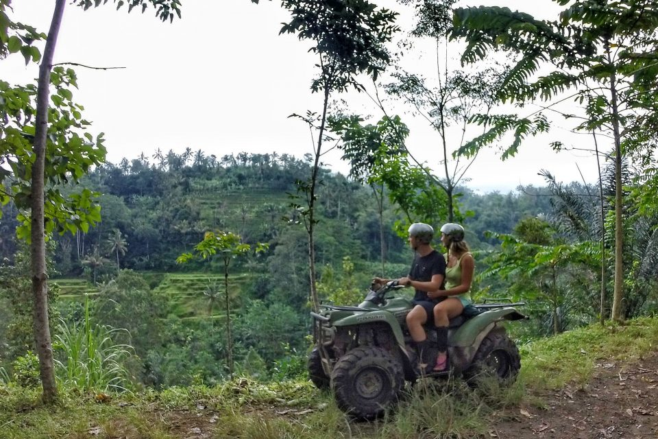 Wander lovers quad biking in Bali