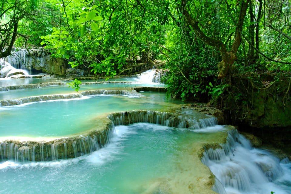 kwang si waterfalls