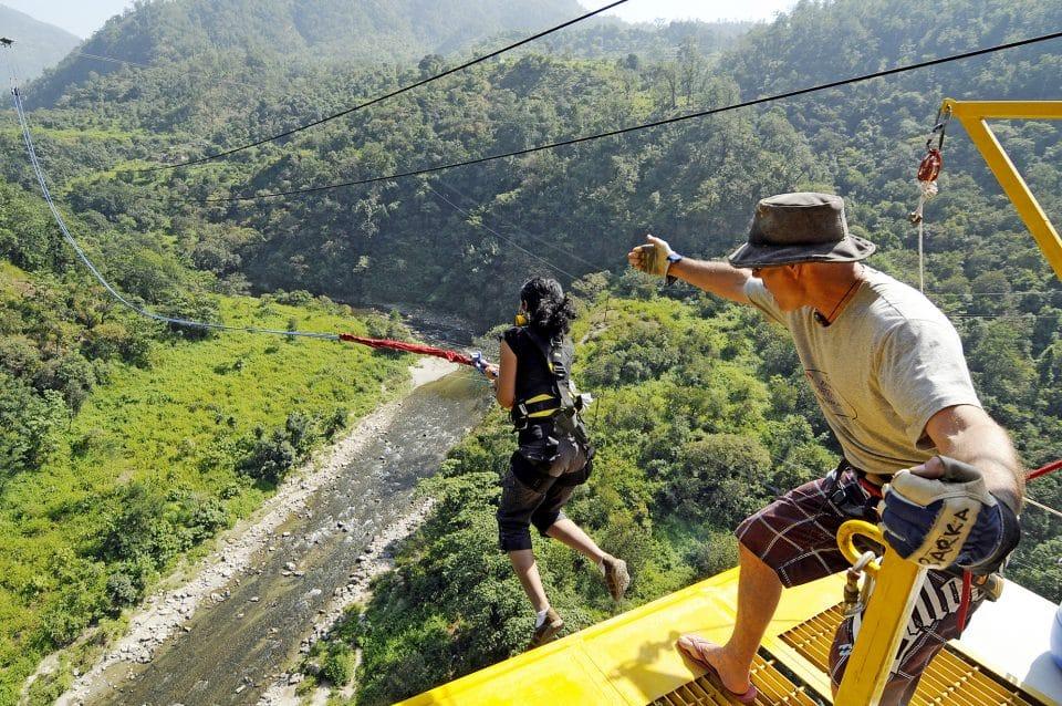 Rishikesh bungee jumping