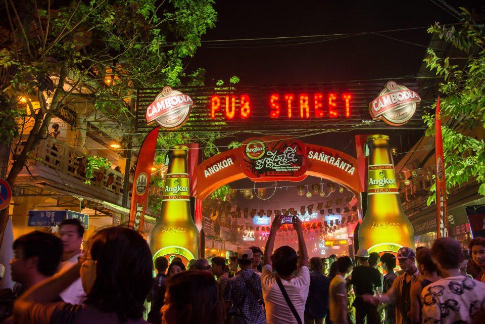 Cambodia pub street