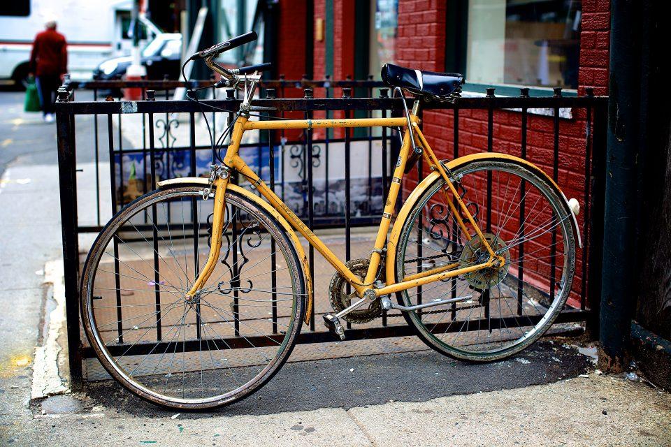 A yellow bike