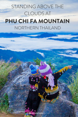 Watch the sunrise at Phu Chi Fa Thailand