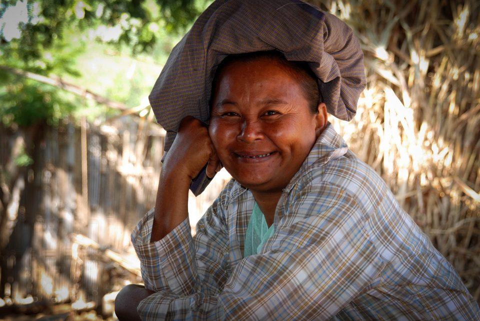 A man in Myanmar