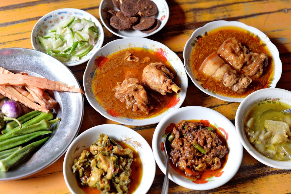 Local dishes in Myanmar