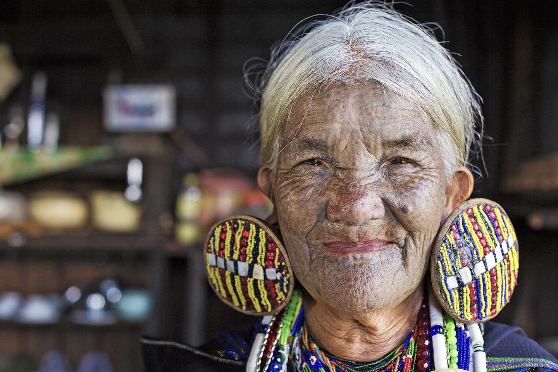 A Burmese woman