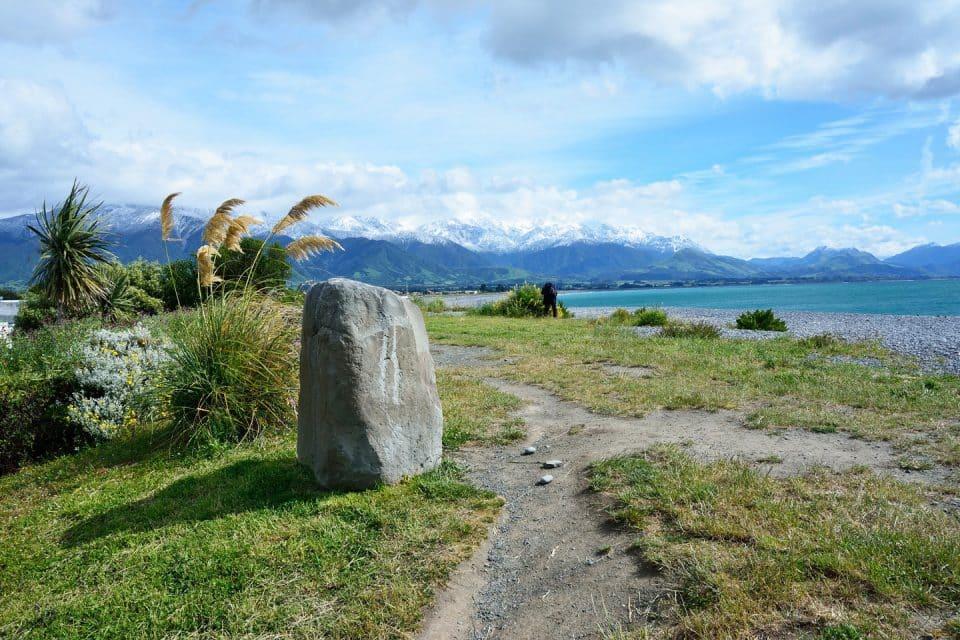A big stone on a mountain