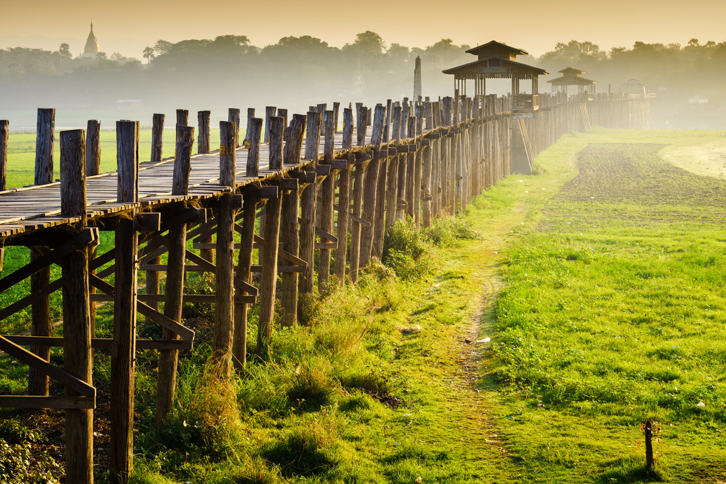 U-bein bridge in Myanmar