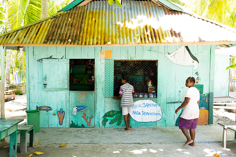 Local shop in Raja Ampat, Indonesia