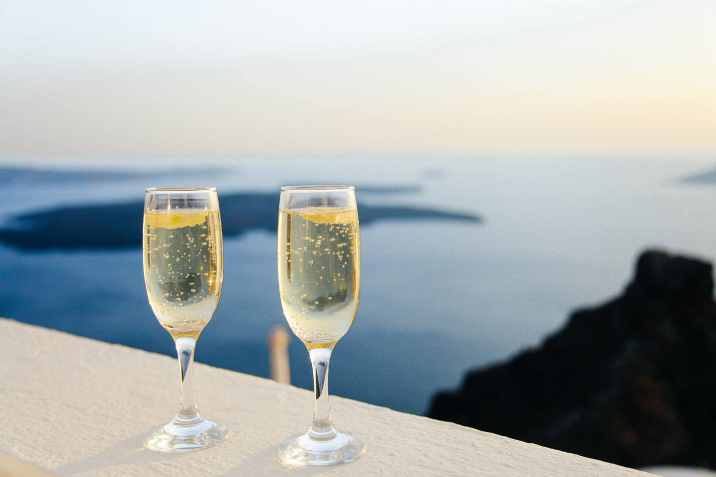 champagne with a view