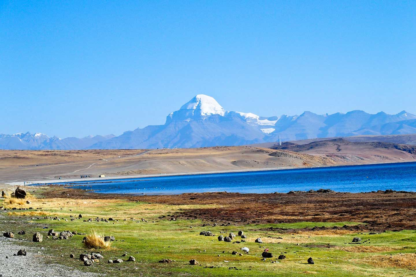 mountain lake tibet