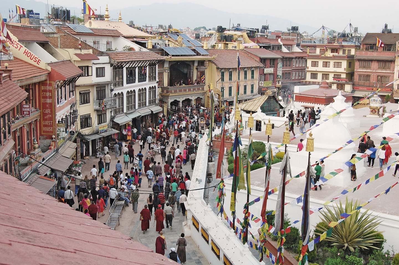 rooftop boudanath