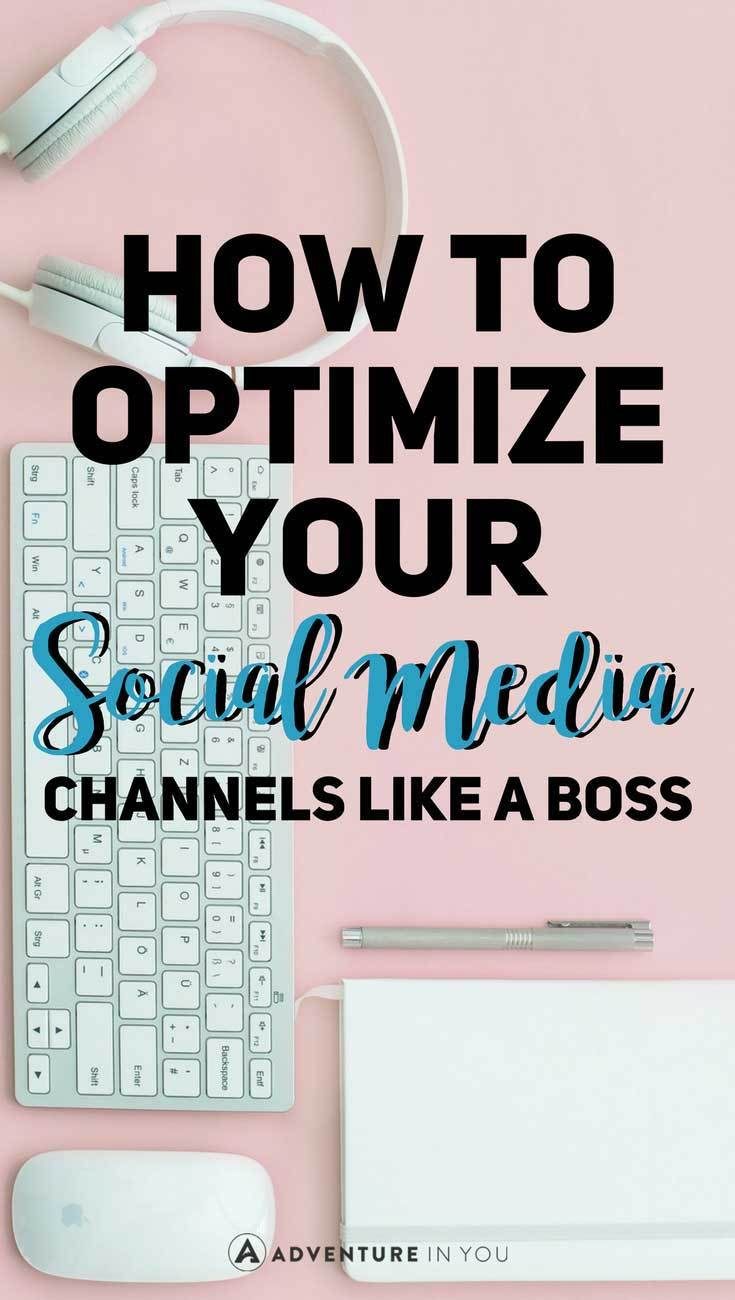 Social Media | Optimize your social media accounts to help you drive more traffic to your blog #socialmedia #blogging