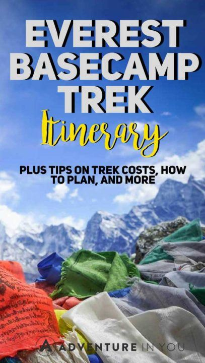 Everest Base Camp Trek | Looking for a review of Everest Base Camp Trek? Here is our complete itinerary including information on trek costs, distances, and length. We also include tips on how to plan your EBC trek and how to make this once in a lifetime holiday amazing. #nepal #everestbasecamp