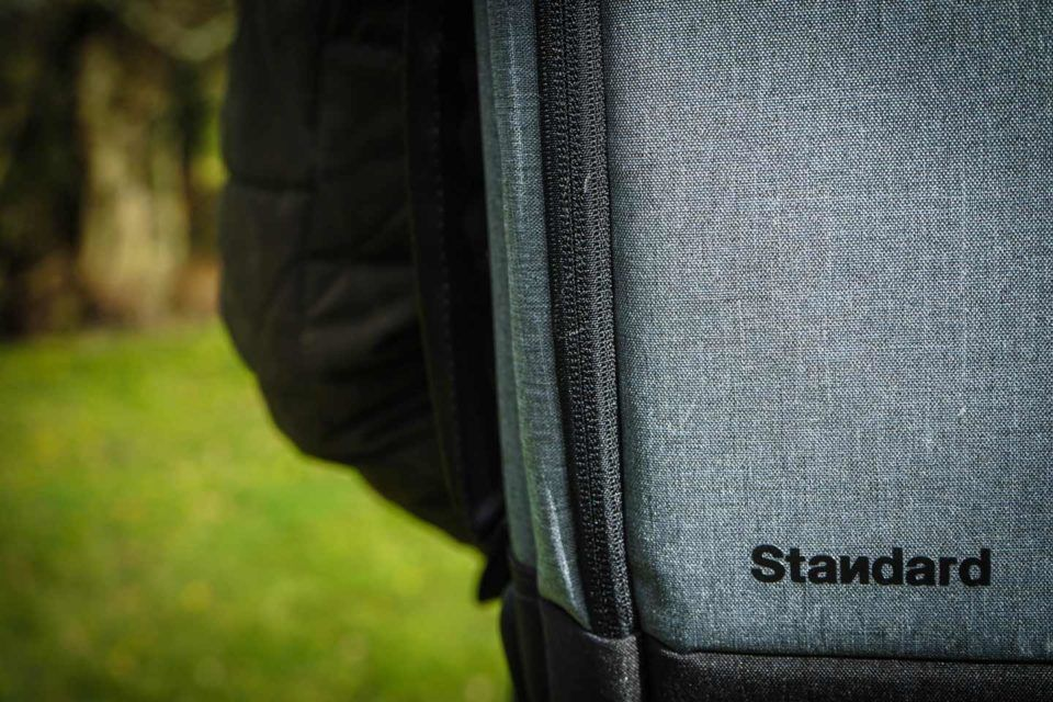 Close up of Standard Luggage logo
