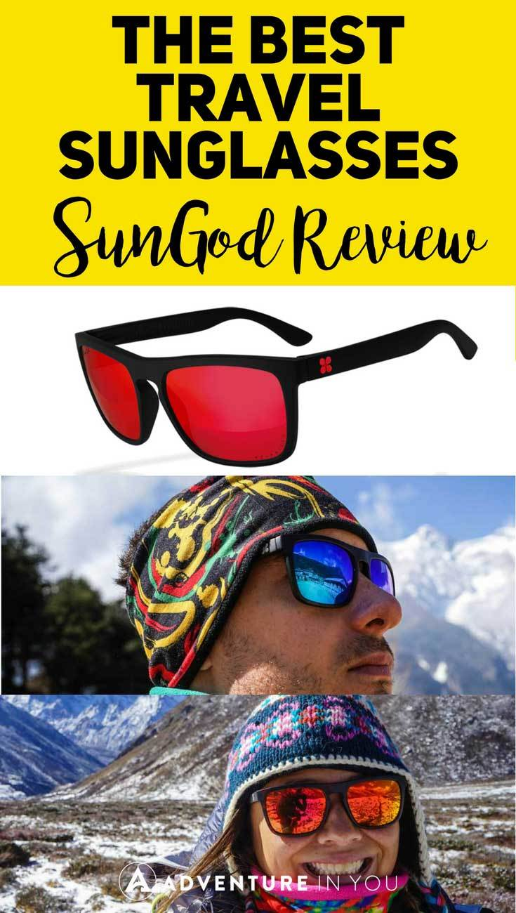 Sunglasses Review | Looking for a pair of sturdy travel sunglasses? Take a look at our full review on sungod glasses featuring an awesome 4k0 polarized lenses and more. These sunglasses are the perfect addition to your travel gear. #sunglasses #sungod #travelgear