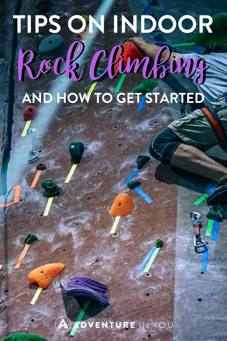 Indoor Rock Climbing | Looking for tips on how to get started rock climbing? Check out our guide for more details #rockclimbing