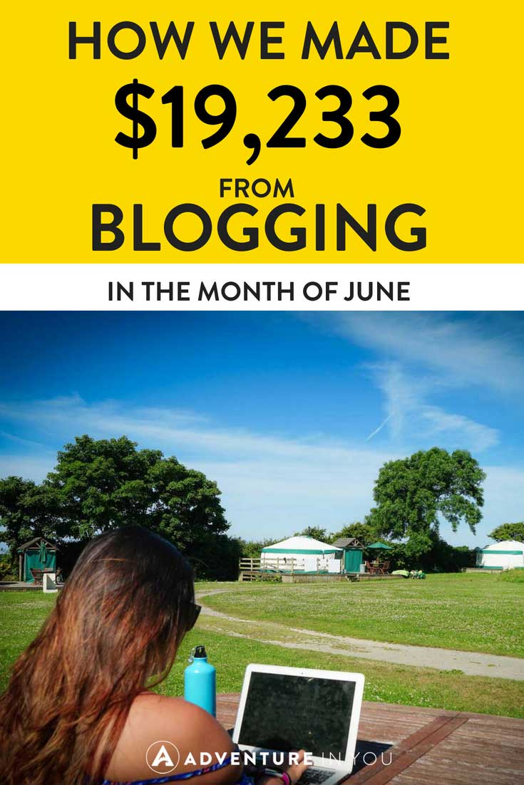 Blogging Income Report | Looking for inspiration on how to make money? Take a look at our June blogging income report to see how we made money from blogging. #incomereport #blogging #blog