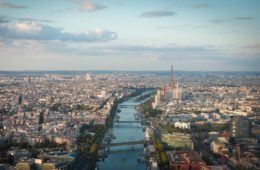 Eiffel Tower from a helicpter