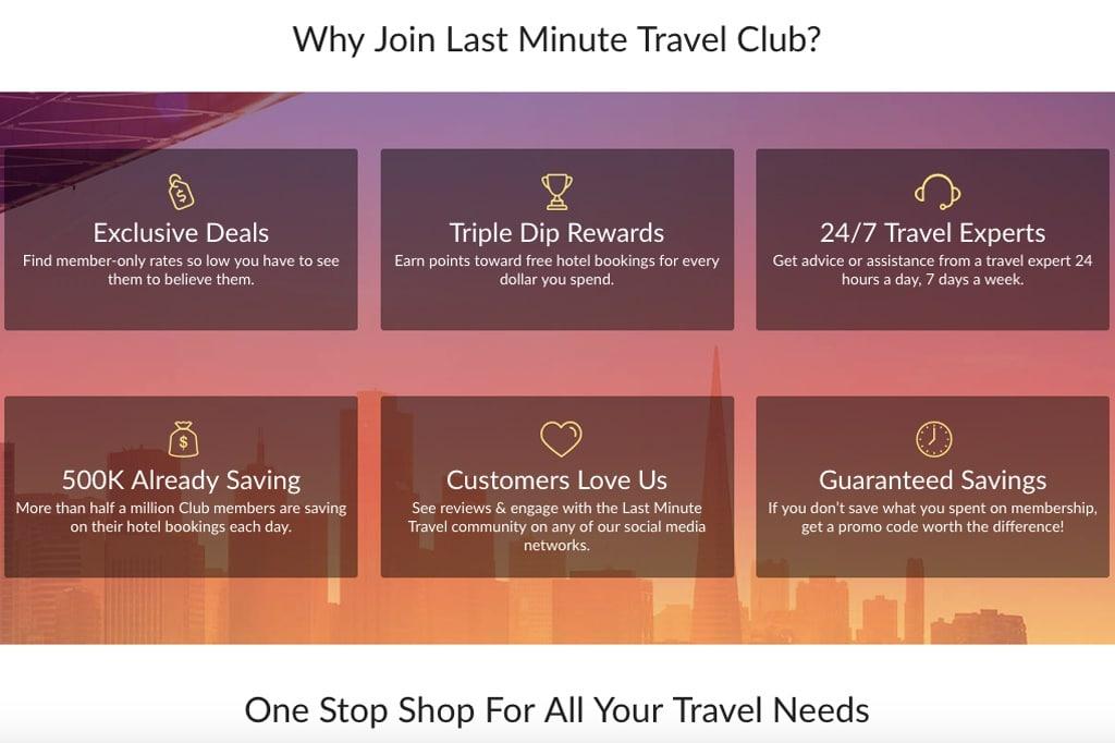 last-minute travel club membership