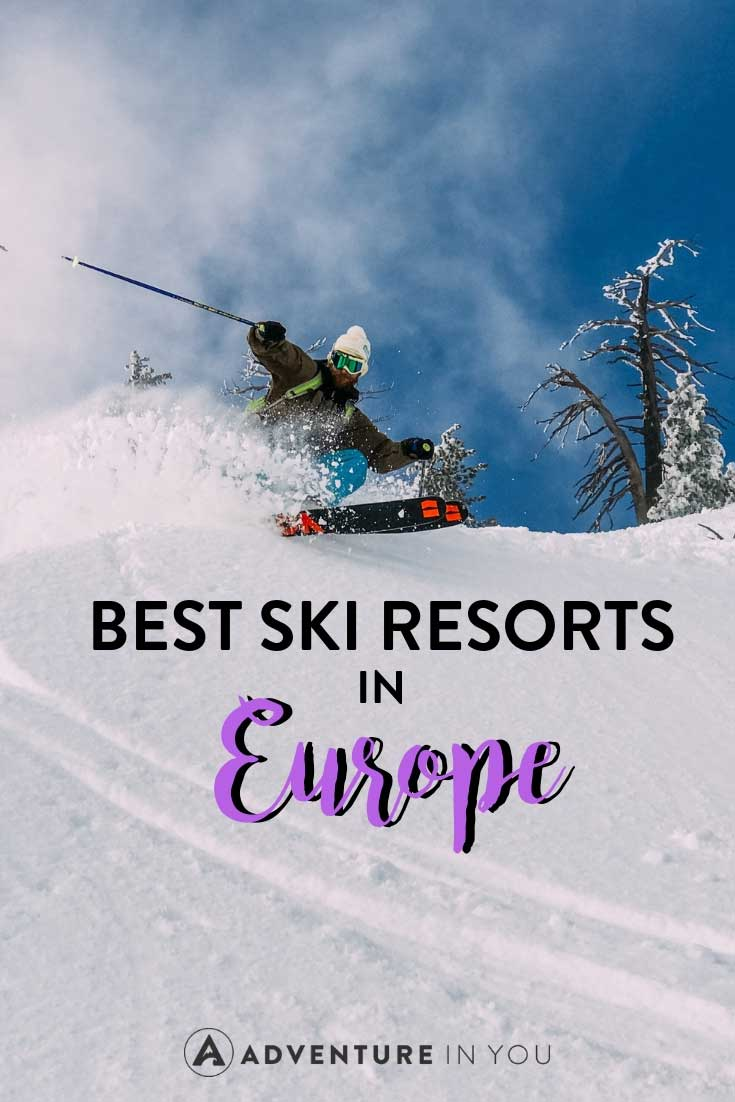 Skiing Europe | Looking for tips on the best ski resorts in Europe? Here are our top picks for the best ones. From the top ski resorts in France, Italy, and Switzerland, Europe is fill to the brim with incredible adventures and luxuries. #skiiing #europe #skiresort