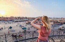 woman in marrakesh, morocco