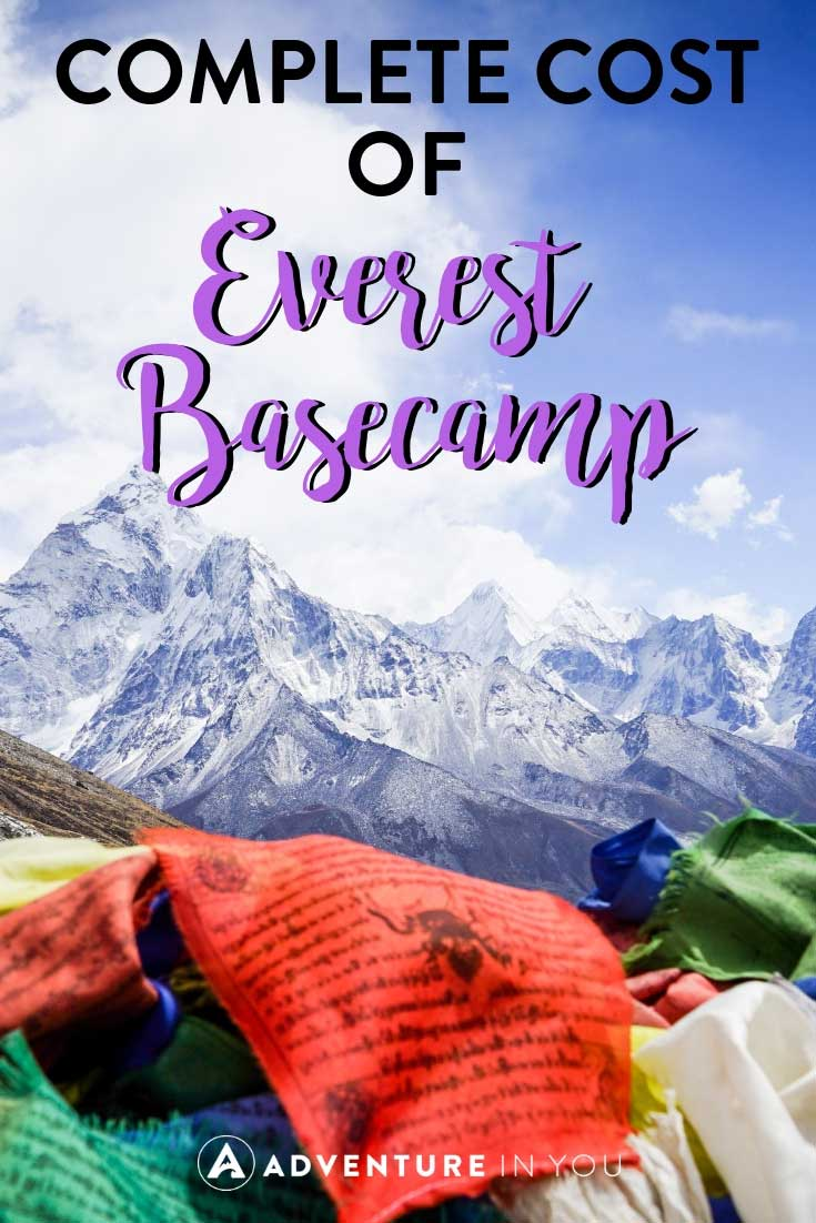 Everest Basecamp Costs | Wondering how much it costs to climb up Everest Basecamp? Here is our detailed guide on how much you should budget for this trip of a lifetime. #nepal #ebc #everestbasecamp