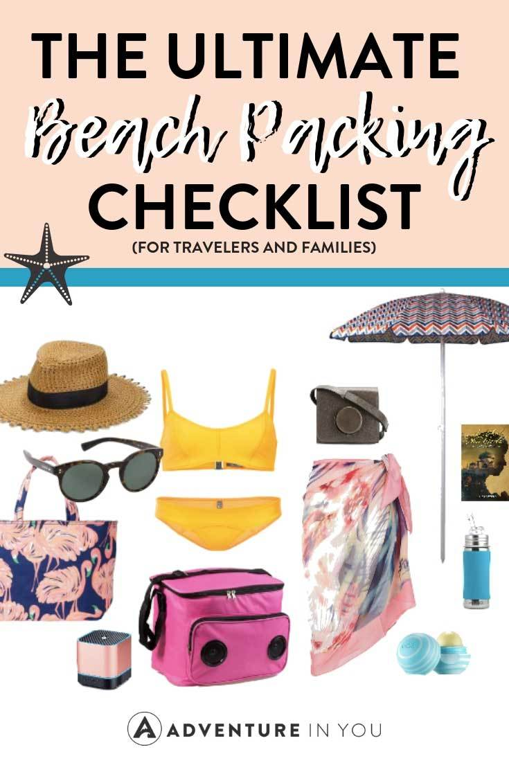 Beach Packing List | Planning a trip to the beach? Here's your ultimate beach packing list guide to make sure you don't forget any travel essentials! #beachtrip #packing list #beachpackinglist