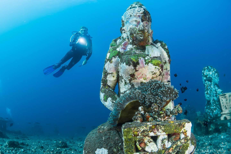 scuba statue