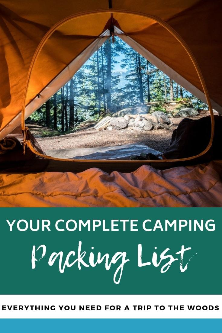 Camping Packing List | Love the great outdoors? Check out this packing list filled with everything you need for the ultimate outdoor adventure. #camping #packinglist #outdooradventures