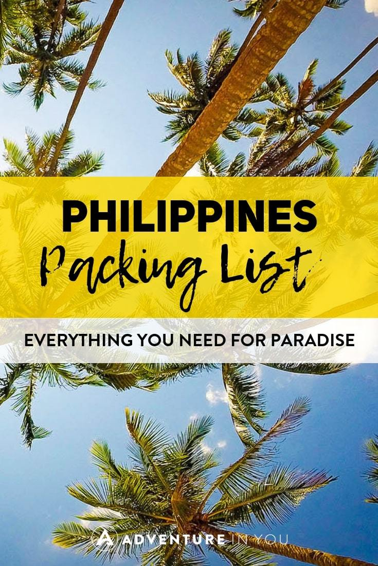 Philippines Packing List | Have an upcoming trip to the Philippines? Follow this packing list to be sure you have everything you need! #philippines #packinglist