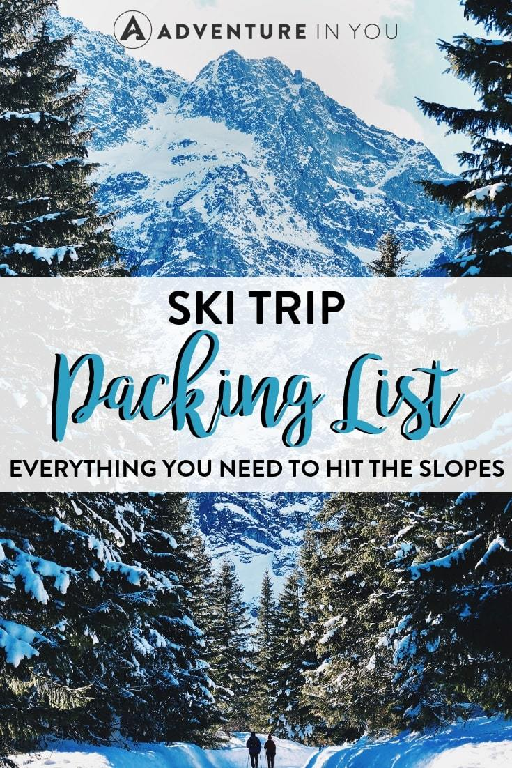 Ski Trip Packing List | Hitting the slopes some time soon? Check out this packing list with everything you'll need for a successful ski trip.