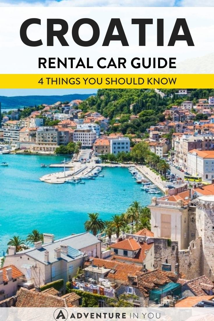 Car Rental Tips in Croatia | The best way to get around Croatia is by renting a car. Check out our guide filled with everything you need to know for a successful rental experience! #croatia #carrental #explore
