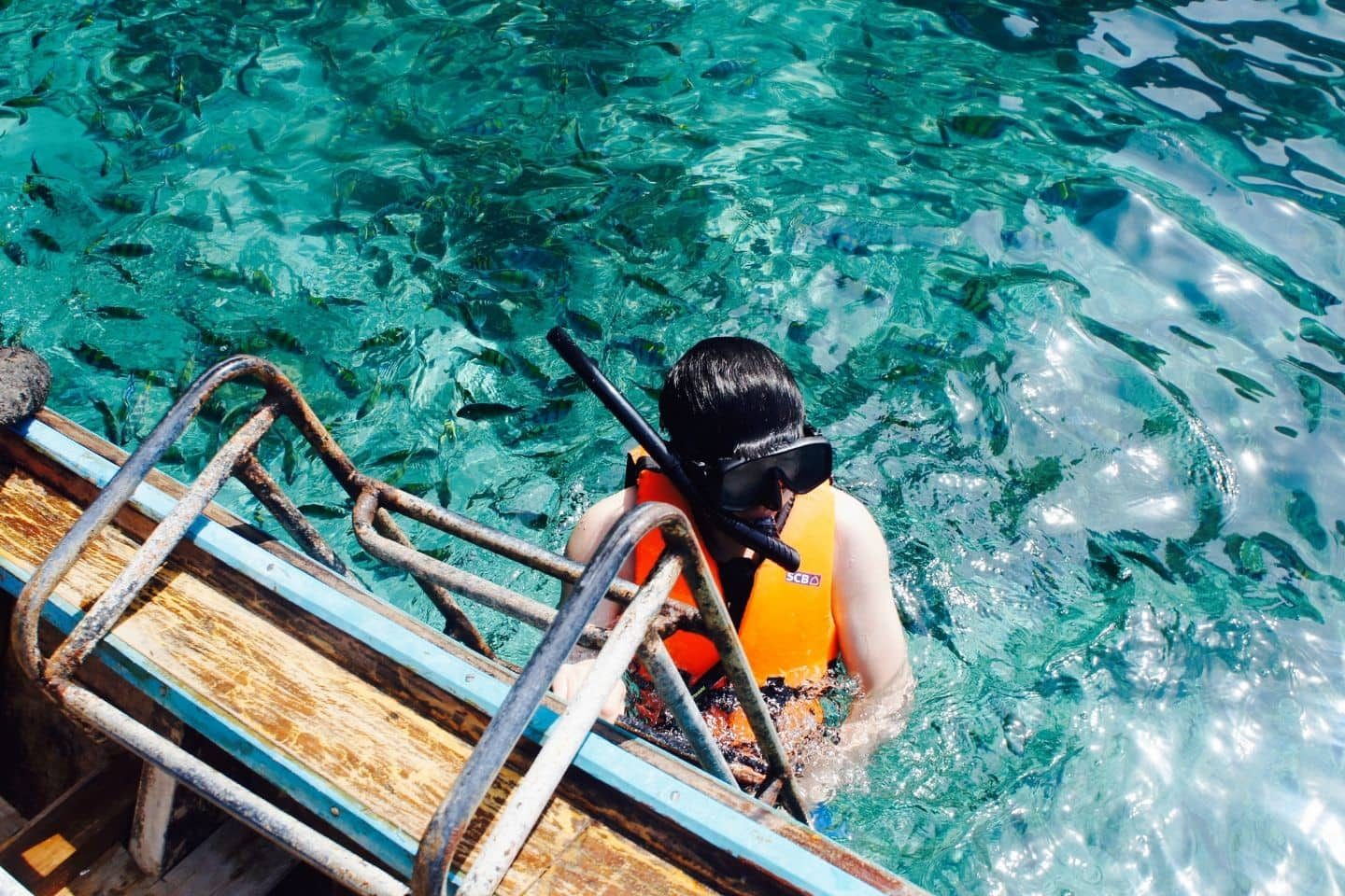snorkeling blue waters