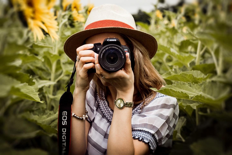 traveler using camera