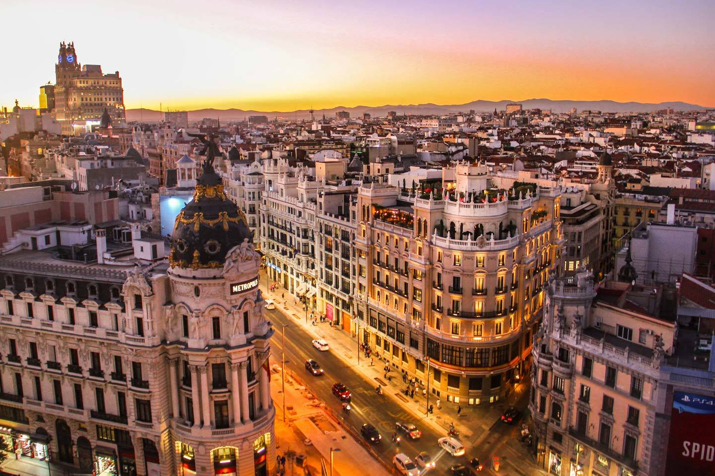 madrid city aerial shot