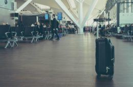 Unattended luggage at airport