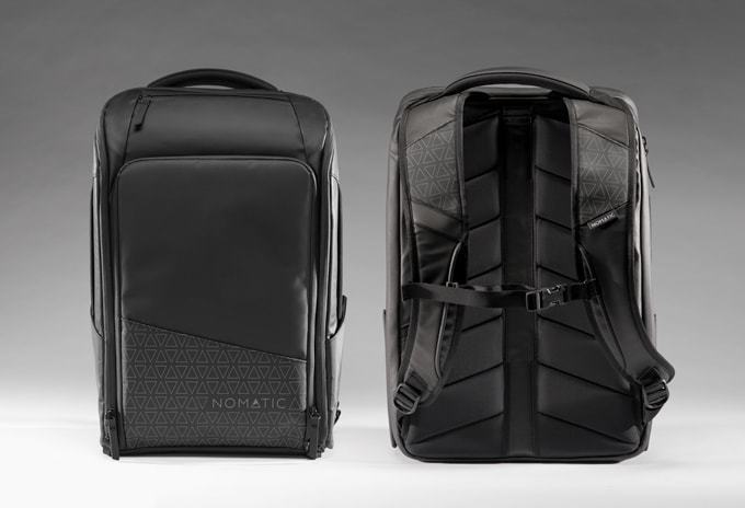 Photo of nomatic backpack front and back