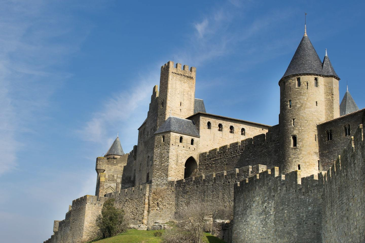 medieval french city and castle