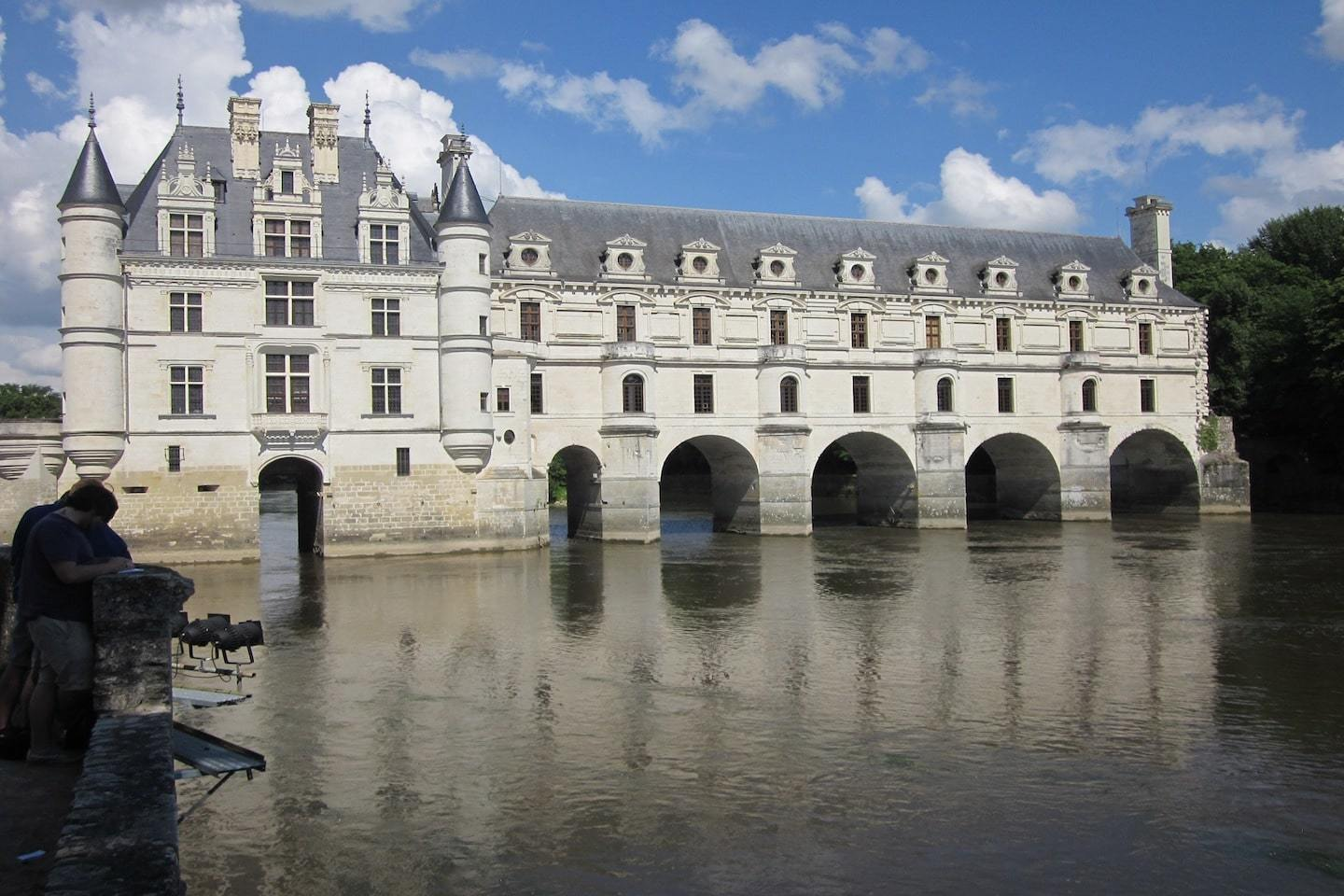 castle with arches on the water