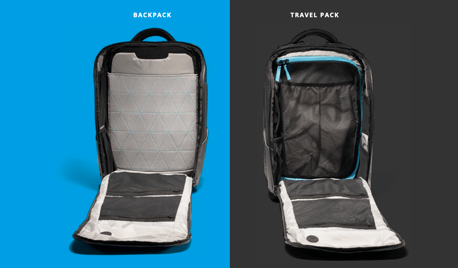 nomatic backpack vs travel pack
