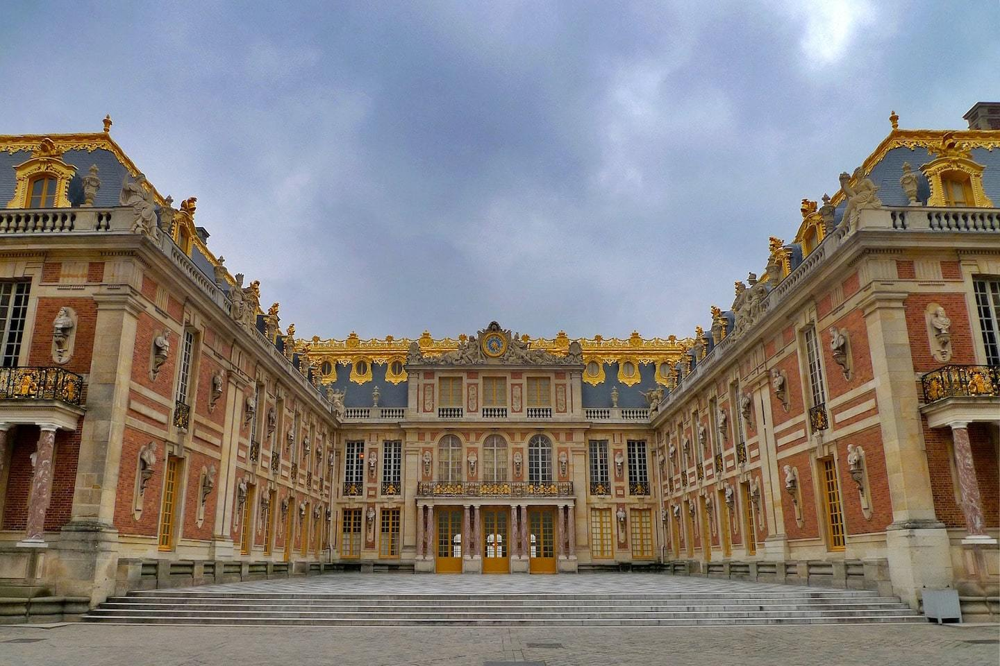 view from courtyard of versailles