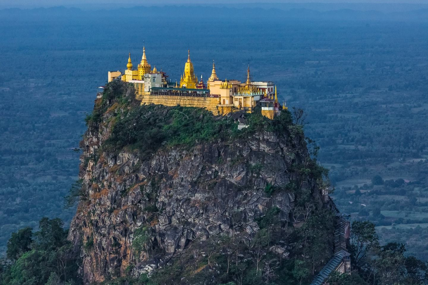 mount popa monastery on top of volcano myanmar