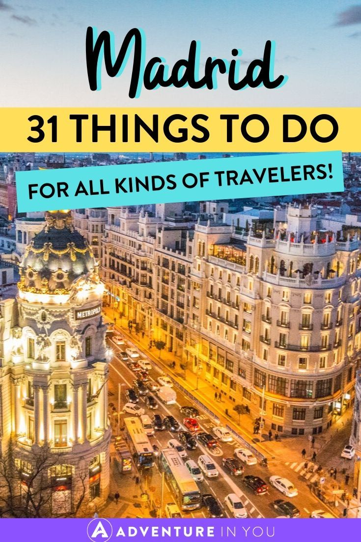 Things to Do in Madrid | Taking a trip to Spain's capital city? Here are 31 things to do in Madrid that you'll absolutely love!