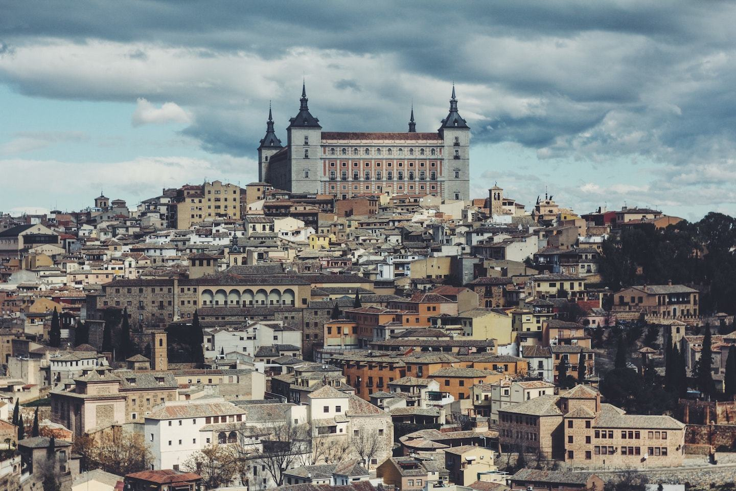 view of city in toledo spain