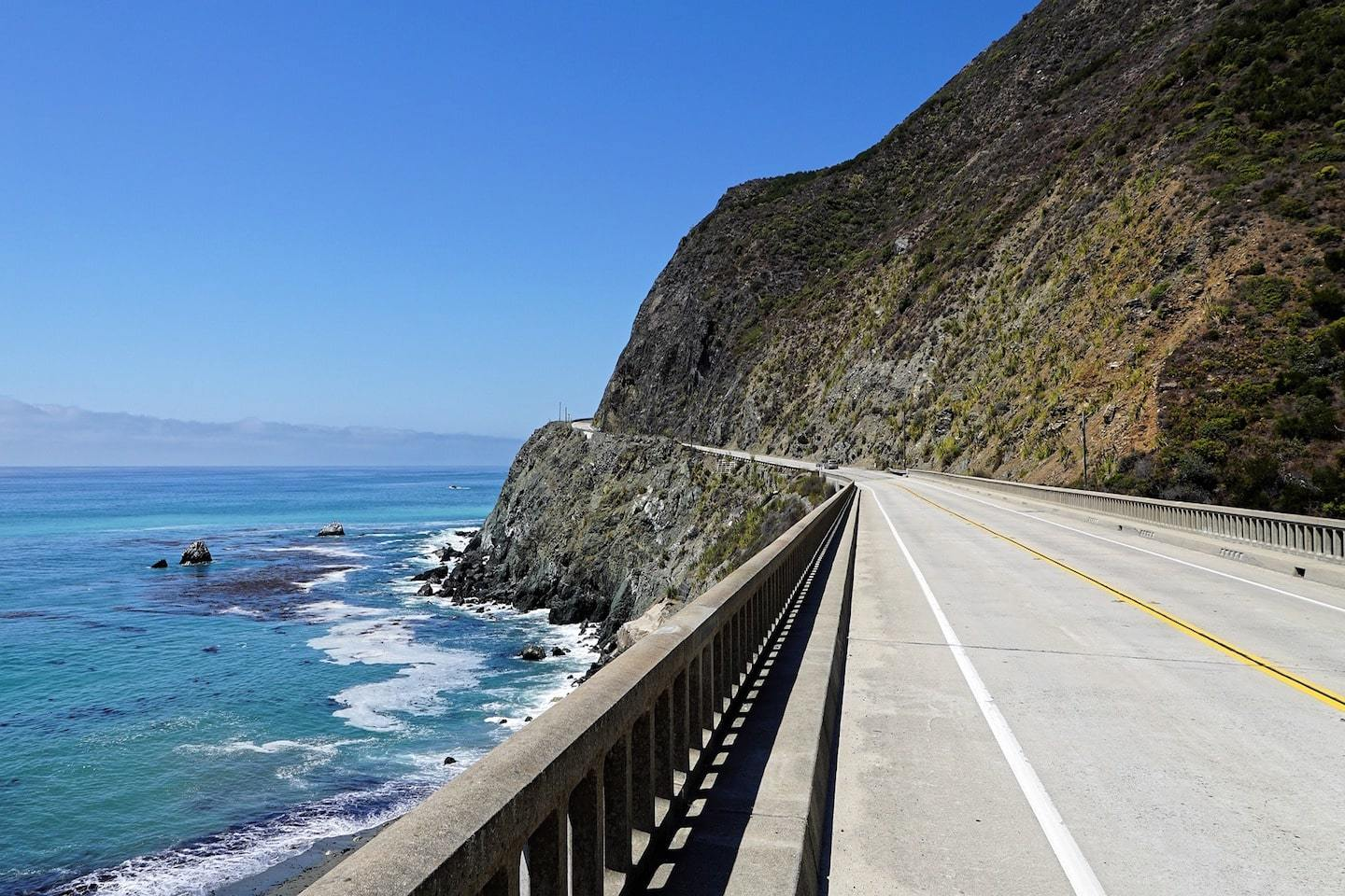 driving on highway 1 in big sur california