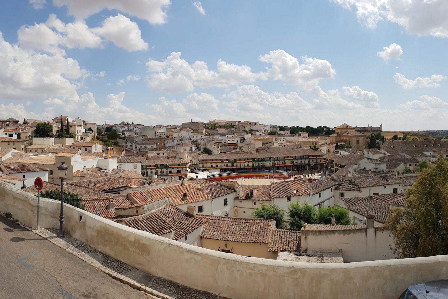 aerial view of chinchon spain