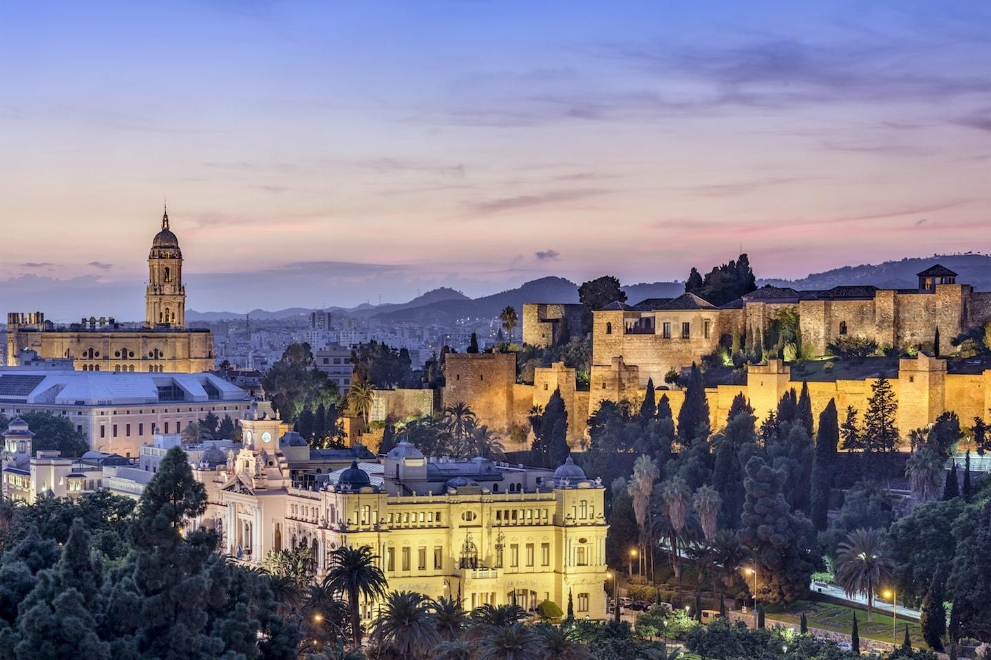 view of malaga, spain