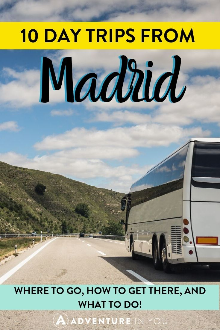 10 Day Trips from Madrid | Staying in Madrid but want to see some more of Spain? Here are 10 easy day trips to take while staying in the capital city!