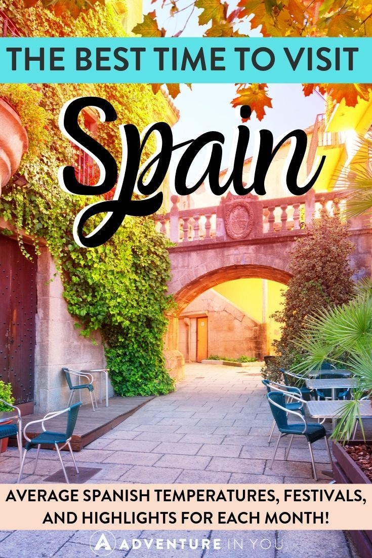 Best Time to Visit Spain | Interested in taking a trip to Spain but not sure when to go? Check out our complete guide on best time of year to visit Spain and a month-by-month breakdown of what's going on in the country!